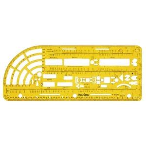 코링 교통사고 조사용정규 K-600 템플 모형자 모양자