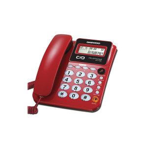 빅버튼 유선전화기 일반 집 사무실 매장 전화 레드