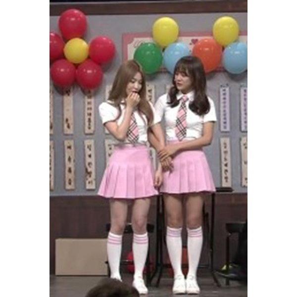 핑크 스커트 여름교복/걸그룹 무대의상/놀이공원 의상