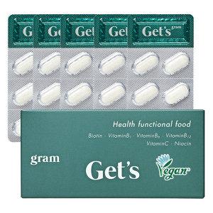 겟츠 그램 식물성 비오틴 비타민 맥주효모 영양제 30정