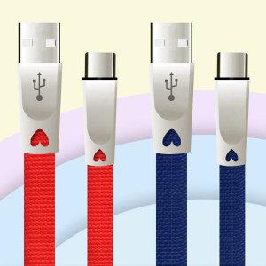 3M C타입 3A 퀵차지 휴대폰 핸드폰 충전케이블 레드