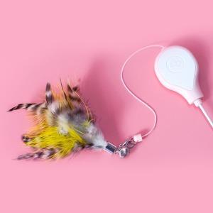 코펫 고양이 낚시대 깃털 리필 (2_긴꼬리 얼룩깃털)