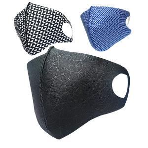 편백 항균 3D 입체마스크 대형 남성 검정 세탁사용