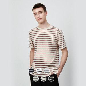 지오다노  최대물량 020520 코튼 크루넥 스트라이프 반팔 티셔츠