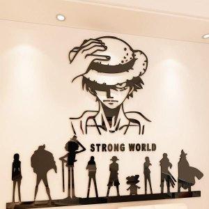 원피스 3D 아크릴 입체 벽 스티커 스트롱 월드 소형