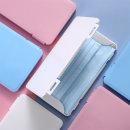 아르세 휴대용 마스크 보관 하드케이스 파우치 블루