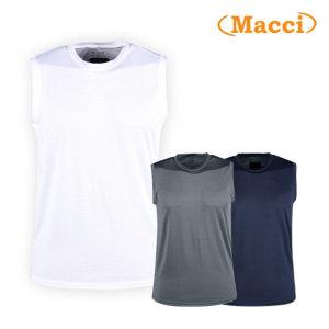 마찌 남성 고기능 매쉬 나시 민소매 티셔츠 PR20M409/ 럭스골프