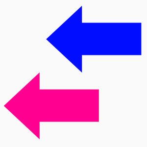 (대형) 화살표스티커 바닥 방향안내 스티커 깜짝특가