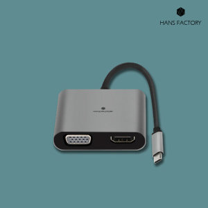 4IN1 USB3.1 C타입 멀티허브 젠더 컨버터 RGB HDMI
