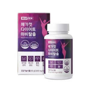 (메가크루) 메가컷 하비탈출 다이어트 보조제 1000 mg  x  60정 (1개월)