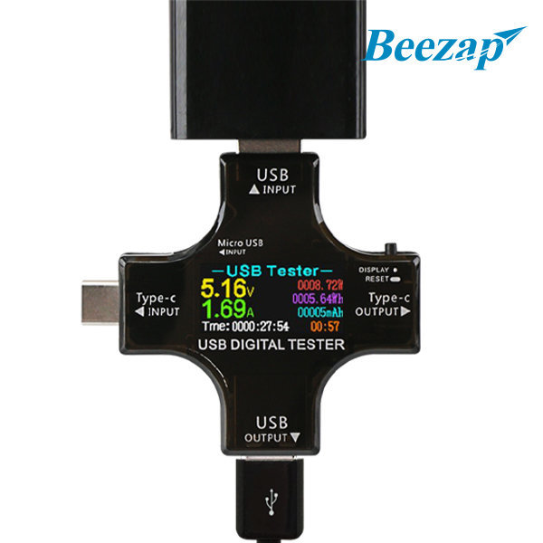 비잽 타입C   USB 전압 전류 컬러 테스터기