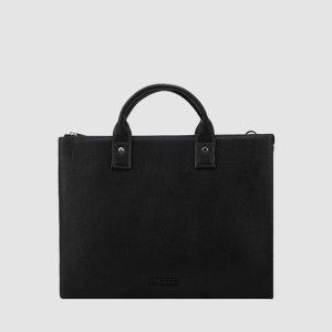 LO-0920 BK 서류가방 블랙 가죽 남성/ 로터프