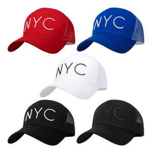 NYC 메쉬캡 남자 여성 망사모자 워터파크 야구모자