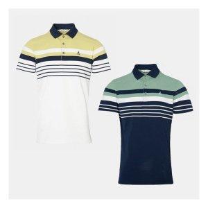 빈폴골프  남성 배색 스트라이프 칼라 티셔츠 2종택1
