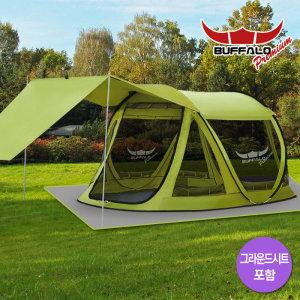버팔로  프리미엄 뉴 프리마 원터치 팝업 텐트 시트 포함 5~6인용