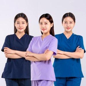 빅사이즈 병원복 간호사 의사가운 유니폼 약사 간호복
