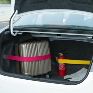 자동차 트렁크 정리 홀더 용품 고정 벨트 블랙 60cm