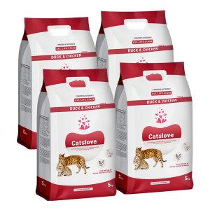 캣츠러브 오리와치킨 5kgX4개 고양이사료 (샘플증정)