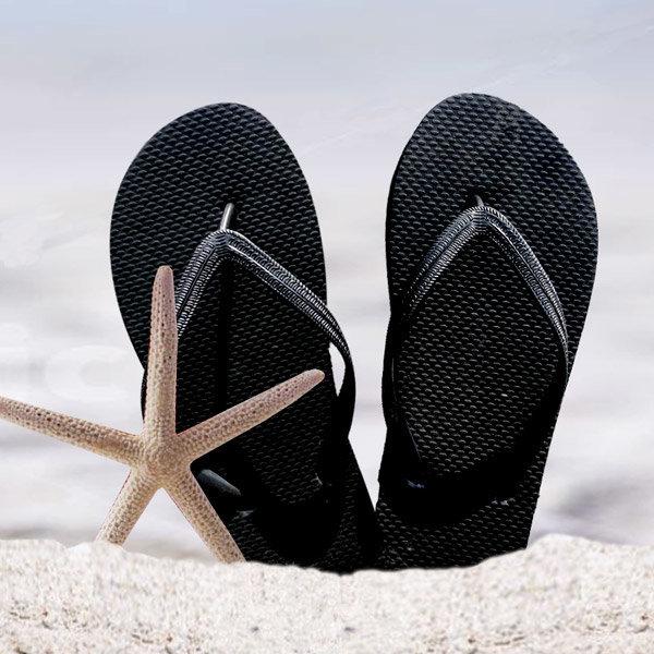 블랙 심플쪼리 슬리퍼 바닷가 아쿠아슈즈 휴양지 심플