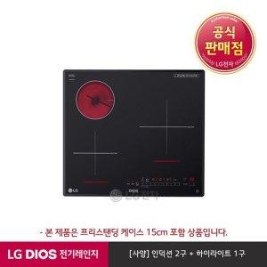 S  E  공식판매점  LG전자  LG DIOS 하이브리드 전기레인지 블랙 BEY3GT1A(프리스탠딩15cm포함  3버너)