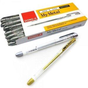 동아 마이메탈 0.7 볼펜 1타 12개입 금색 은색
