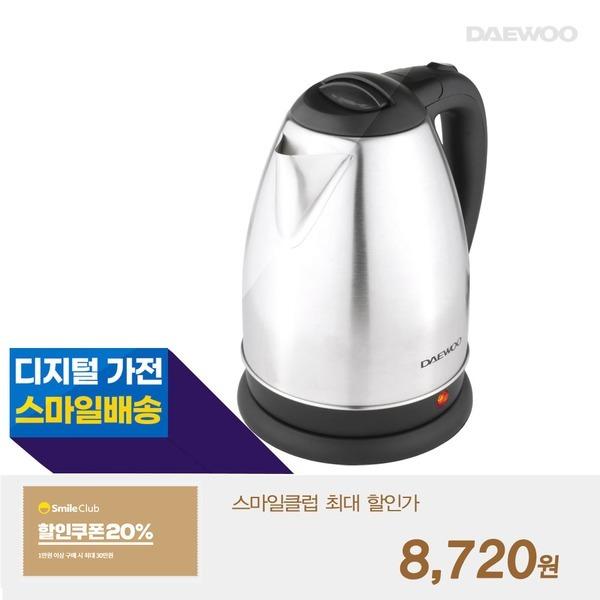대우 스텐 1.8L 전기주전자 무선 커피포트 DEK-MF204