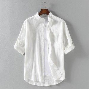남성 반팔 셔츠 남방 빅사이즈 차이나카라 여름 eo17