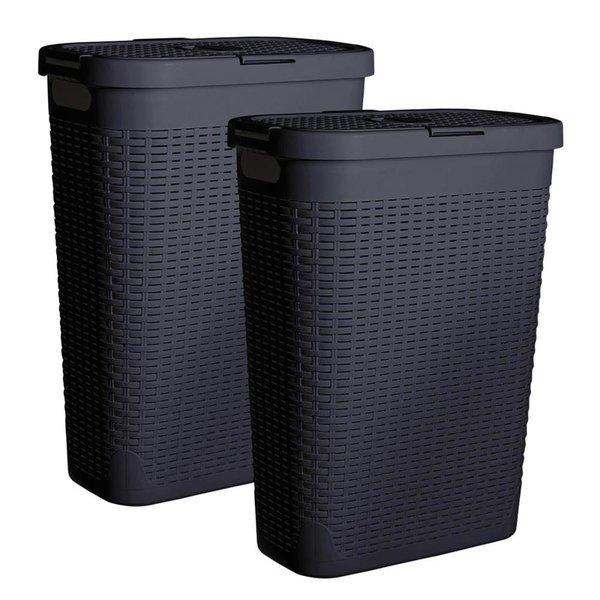 바스클립 세탁물 바구니 세트 40L 2P - 그레이