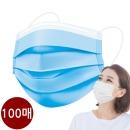 캐치온 3중 필터 마스크 여름용 마스크 블루 100매 a