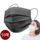 캐치온 마스크 여름용 일회용 마스크 블랙 50매