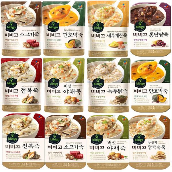 오뚜기죽/비비고죽280g용기/450g파우치/간편식/즉석밥
