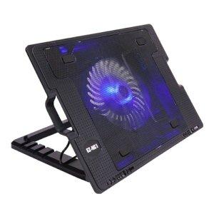 저소음 노트북쿨러 패드 각도조절받침대 LED USB2포트