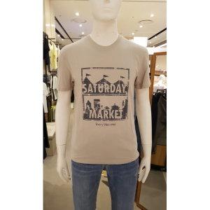 남성 30수싱글 레귤러핏 박스그래픽 라운드넥 티셔츠 FNNMCTR193P