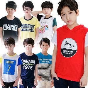 주니어남아반팔티 초등학생 면티 카라티 티셔츠