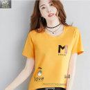 여성 라운드 면티 반팔 루즈핏 티셔츠 HT37