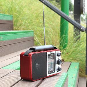 PINGKY-250 레드 FM.AM.단파라디오USB SD카드재생