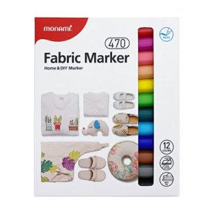 모나미 패브릭마카 470 12색세트 생활마카 직물용마카