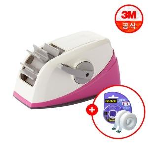 스카치 테이프 원터치 디스펜서(핑크) +리필2롤+증정