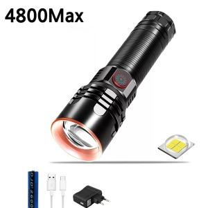LED 손전등 후레쉬 랜턴 서치라이트 4800루멘 P349 아0