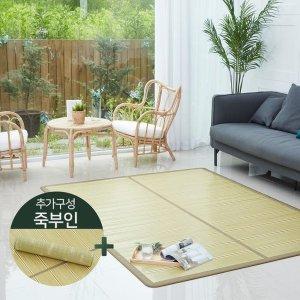 TV 리앤 천연 대나무 돗자리(대형(퀸침대용))+죽부인+대나무 안마봉