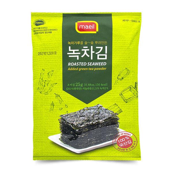 보성 녹차 재래 김 전장 25g 1봉