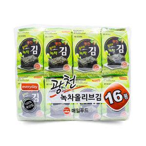 광천 보성 녹차 올리브유 도시락 김 (4.5gX16EA) 1봉