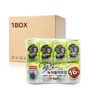 광천 녹차 올리브유 도시락 김 (4.5gX16X10EA) 1Box