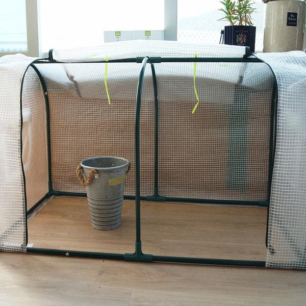 미니 비닐하우스 소형다육이 가정용 조립식온실 원형PE
