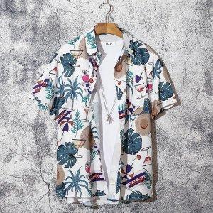 남자 하와이안셔츠 반팔 꽃남방 비치 캐주얼 여름mm65