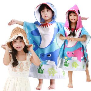 아동 유아 아기 샤워 비치 목욕 가운 타올 수건 모자