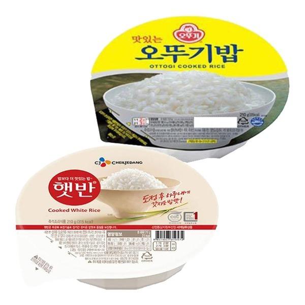 햇반/오뚜기밥 210g x 24개 발아현미밥/흑미밥