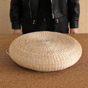 빈티지 라탄 의자 매트 스툴 방석 왕골 원형 70cm
