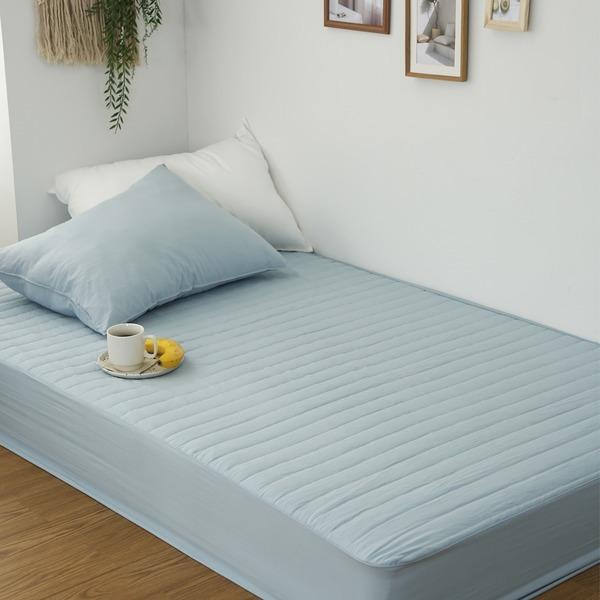 국산 순면 두툼한 누빔 매트리스커버/침대/매트/커버