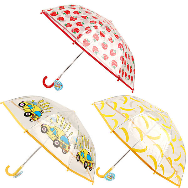 아이콘 투명 우산 딸기 자동차 바나나 안전 어린이 아
